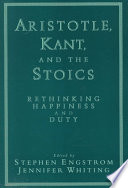 Aristotle  Kant  and the Stoics