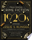 Classic American Crime Fiction of the 1920s Book PDF