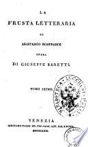 La frusta letteraria di Aristarco Scannabue opera di Giuseppe Baretti