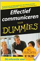 Effectief Communiceren Voor Dummies Pocketeditie