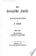 Ueber horazische Lyrik