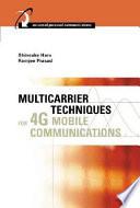 Multicarrier Techniques for 4G Mobile Communications