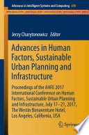 Advances In Human Factors Sustainable Urban Planning And Infrastructure