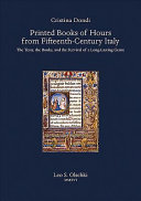Printed Books of Hours from Fifteenth century Italy