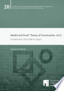 Model and Proof Theory of Constructive ALC