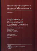 Applications of Computational Algebraic Geometry