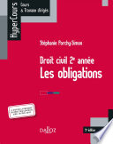 Droit civil 2e ann  e  Les obligations