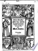 Von Priester Ehe     mit einer Vorrede Martini Luther