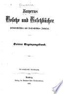 Bayerns gesetze und gesetzb  cher