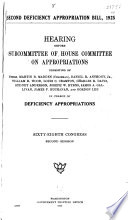 Second Deficiency Appropriation Bill, 1925