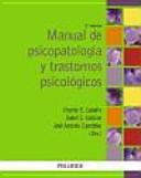 Manual De Psicopatolog A Y Trastornos Psicol Gicos
