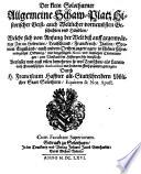 Der klein Solothurner allgemeine Schaw-Platz historischer Geist- auch Weltlicher vornembsten Geschichten vnd Händlen ... von Anfang der Welt biß auff gegenwärtige Zeit (etc.)