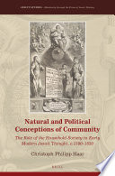 Natural And Political Conceptions Of Community