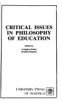 Critical issues in philosophy of education