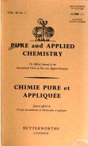 Chimie Pure Et Appliqu E book