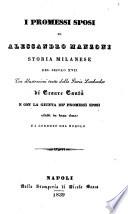 Opere di Alessandro Manzoni in verso e in prosa volume unico adorno di nove vignette in litografia e del ritratto dell'autore