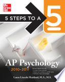5 Steps to a 5 AP Psychology  2010 2011 Edition