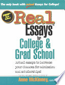 Real Essays for College   Grad School