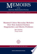 Maximal Cohen Macaulay Modules Over Non Isolated Surface Singularities and Matrix Problems