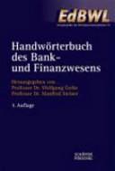 Handwörterbuch des Bank- und Finanzwesens