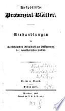 Westphälische Provinzial-Blätter
