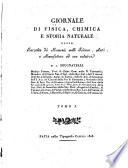 Giornale di fisica, chimica, storia naturale, medicina ed arti ...