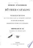 Hinrichs' Katalog der im deutschen buchandel erschienenen bücher, zeitschriften, landkarten usw
