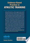 Evidence Based Practice in Athletic Training