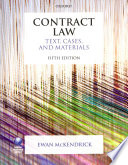 Contract Law  Text  Cases  and Materials