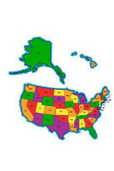 Map of United States with State Abbreviations Journal