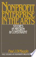 Nonprofit Enterprise In The Arts : culture