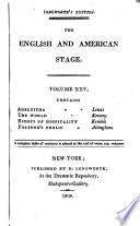 The English and American Stage
