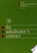 The Adjudicator S Contract