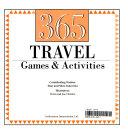 365 Travel Games   Activities Book PDF