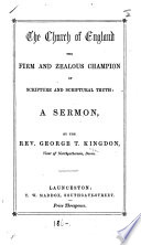 The Church of England the     Champion of Scripture and Scriptural Truth  a Sermon