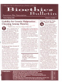 Bioethics Bulletin : ...