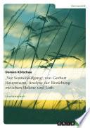 """""""Vor Sonnenaufgang"""" von Gerhart Hauptmann. Analyse der Beziehung zwischen Helene und Loth"""