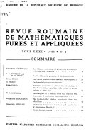Revue Roumaine de Math  matiques Pures Et Applique  s