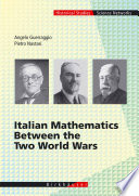 Italian Mathematics Between the Two World Wars