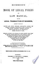 Richmond's Book of Legal Forms and Law Manual