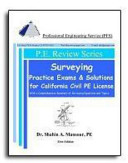Surveying Practice Exams and Solutions for California Civil PE License
