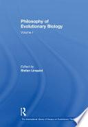 Philosophy of Evolutionary Biology