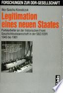 Legitimation eines neuen Staates