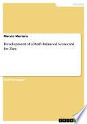 Development of a Draft Balanced Scorecard for Zara