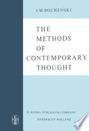 The Methods Of Contemporary Thought book
