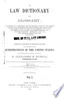A Law Dictionary and Glossary