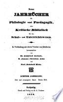 Neue Jahrbücher für Philologie und Pädagogik