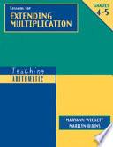 Lessons for Extending Multiplication