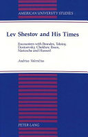 Lev Shestov and His Times