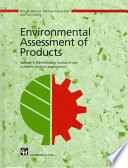 Environmental Assessment of Products